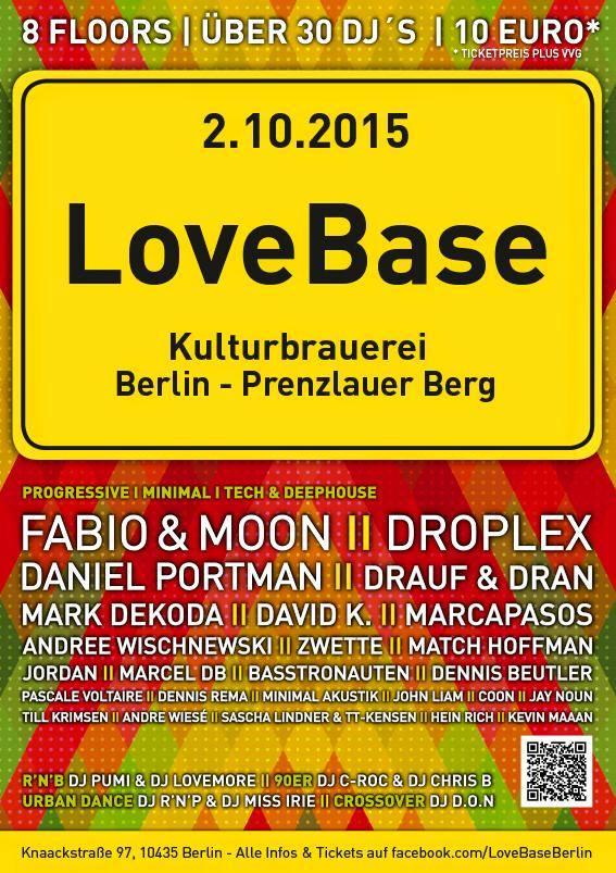 Berliner Sound DJ Till Krimsen bei der LOVEBASE @Kulturbrauerei Berlin