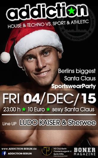 Berliner Sound DJ Sherwee bei der Sexy Santa Claus  Party by Addiction Berlin