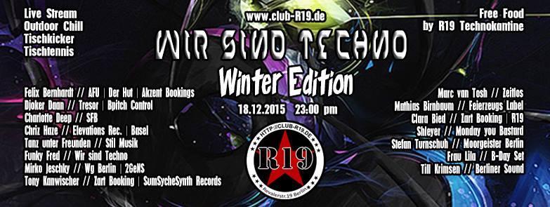 Till Krimsen (Berliner Sound) bei Wir sind Techno im R19 Club Berlin