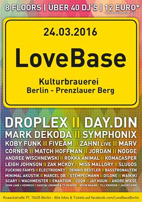 Berliner Sound DJ's Till Krimsen & Jason Lemm bei der LOVEBASE 2016 @Kulturbrauerei Berlin