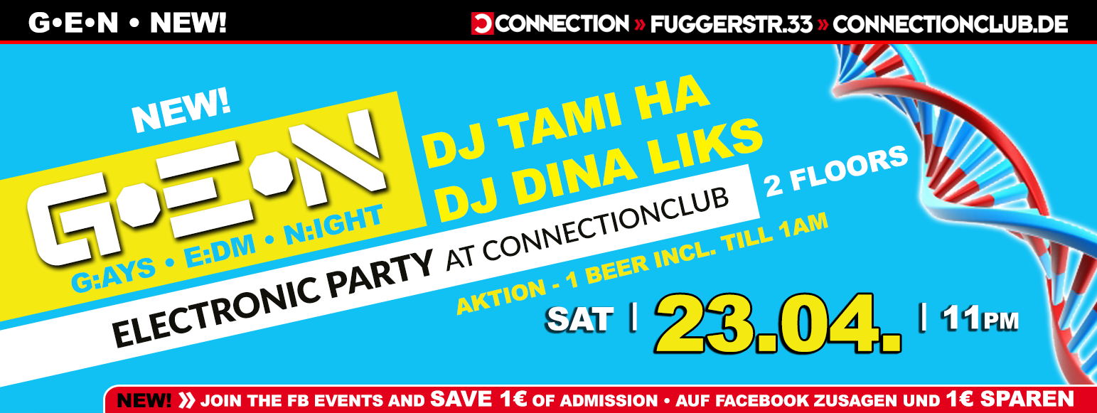 GEN ▇ G:AYS ▇ E:DM ▇ N:IGHT mit Tami Ha im Connection Club Berlin