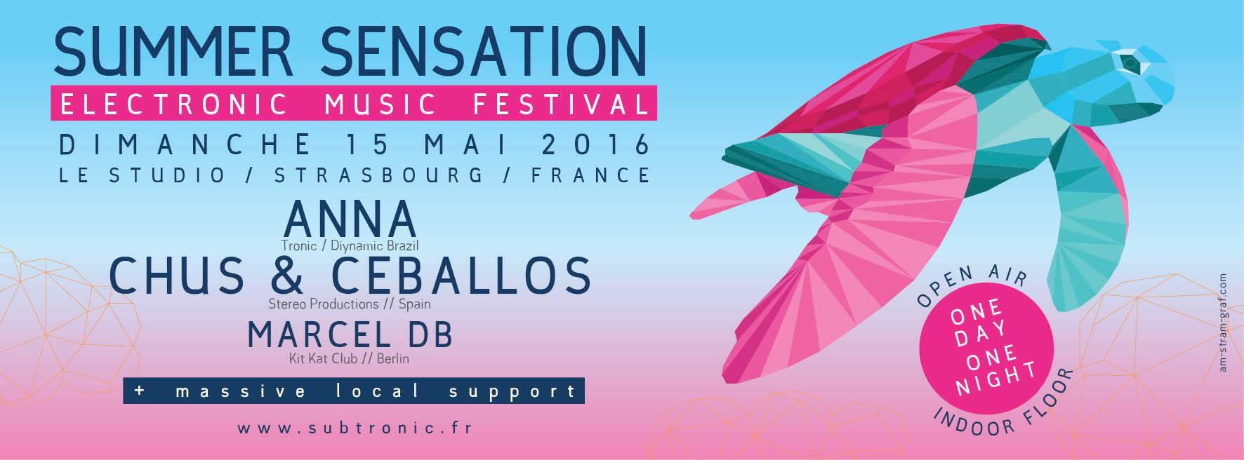 Marcel db live beim Summer Sensation Festival in Straßburg, Frankreich