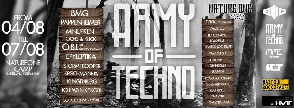 Army of Techno Nature One Camp 2016 mit Till Krimsen