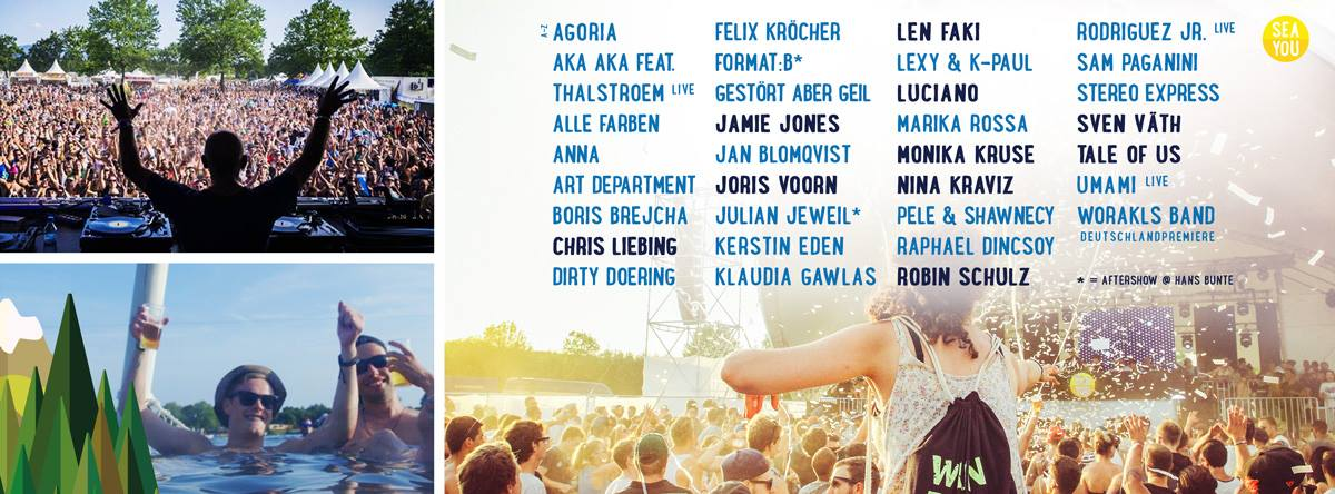 Line Up Main Acts Sea You Festival 2016