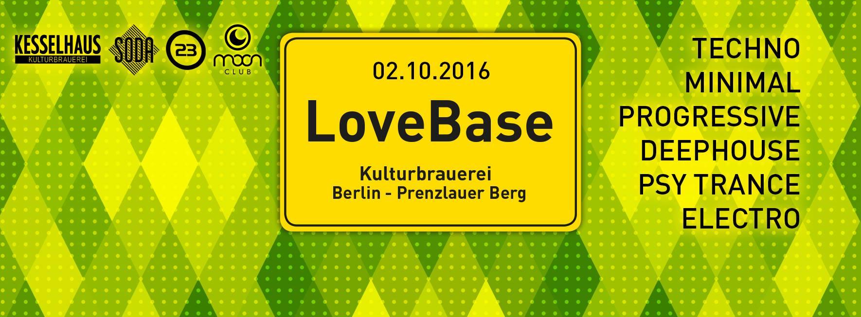 LOVEBASE @Kulturbrauerei Berlin