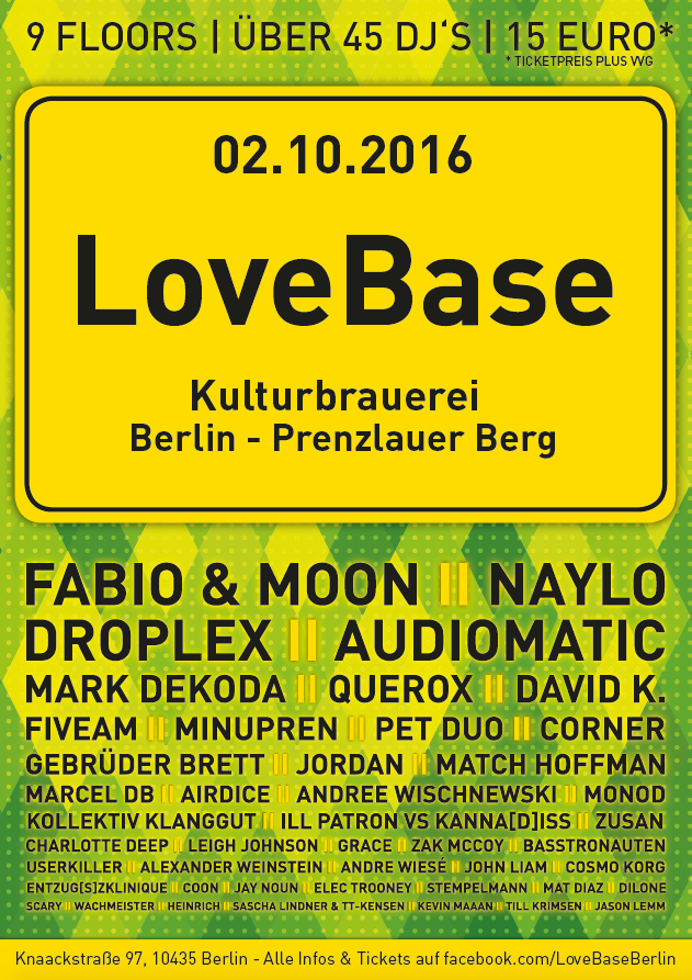 Berliner Sound DJ's Till Krimsen & Jason Lemm bei der LOVEBASE @Kulturbrauerei Berlin