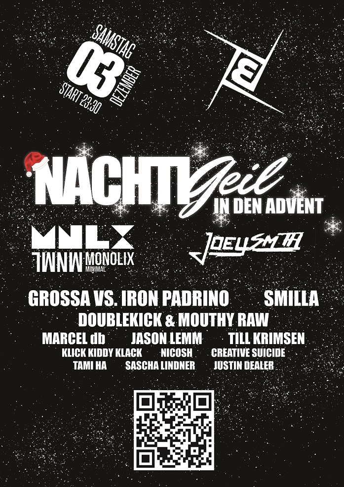 Marcel db, Till Krimsen, Jason Lemm & Tami Ha bei NachtiGeil in den Advent im MBia Club