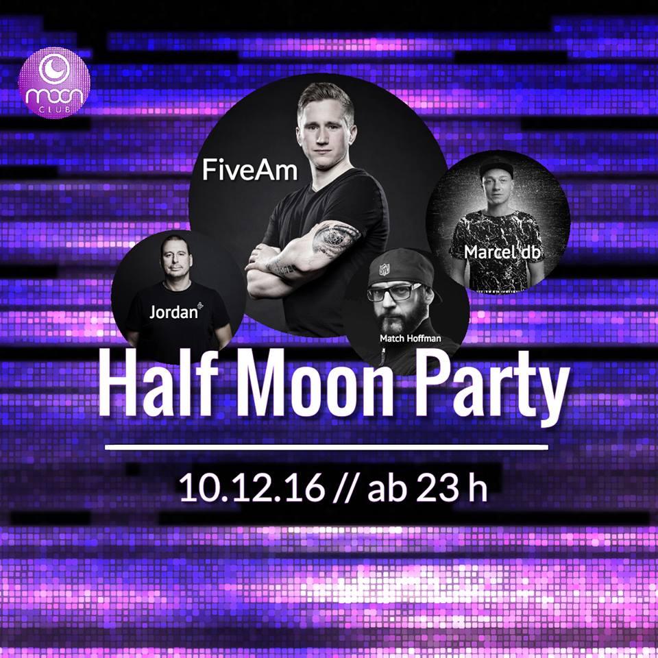 Marcel db live bei der Half Moon Party